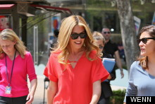 Cat Pap! Ms Deeley Spotted In Scarlet Mini At The Grove In LA