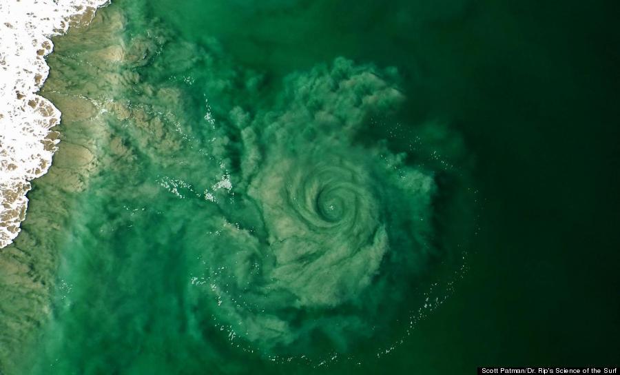 Australian Whirlpool Photo: Paraglider Snaps Epic Rip Current Vortex ...