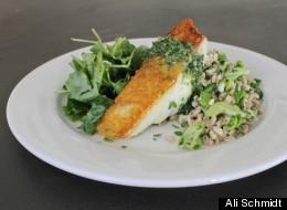 Spring's Savor: Halibut, Farro and Kale