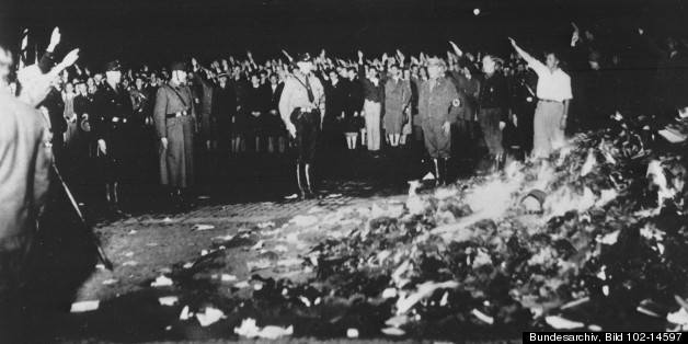 book burning holocaust In addition, the catalogue of the exhibition referred to the book burning of 'decadent' authors, and a brochure, available free to visitors, reminded readers that fascists utilized the complete arsenal of censorship - exile, imprisonment, and murder - as well as the banning and burning of books.