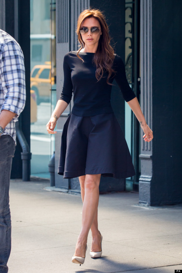 street style victoria beckham in new york. Black Bedroom Furniture Sets. Home Design Ideas