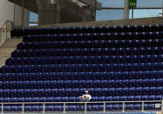 miami marlins empty