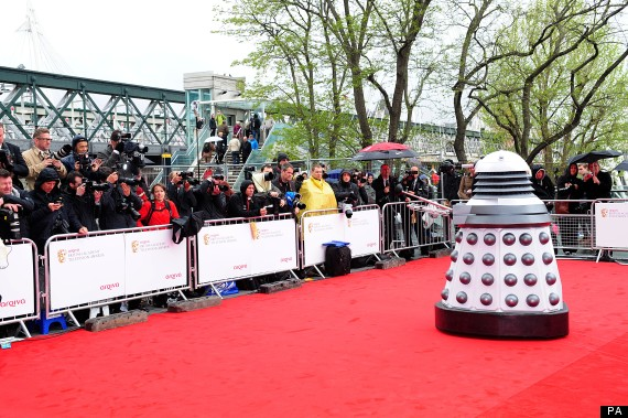 daleks at the baftas