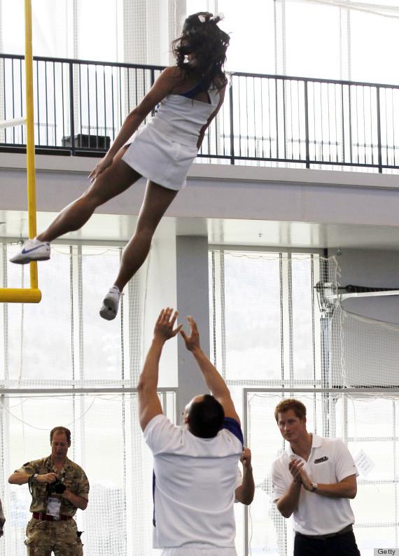prince harry cheerleaders