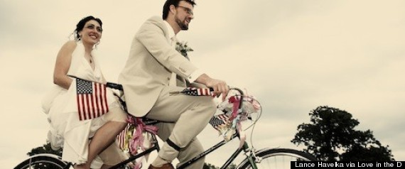 Detroit Weddings Ana Amp Joel Celebrate Wedding With Bikes Local Vendors At Belle Isle Casino Venue