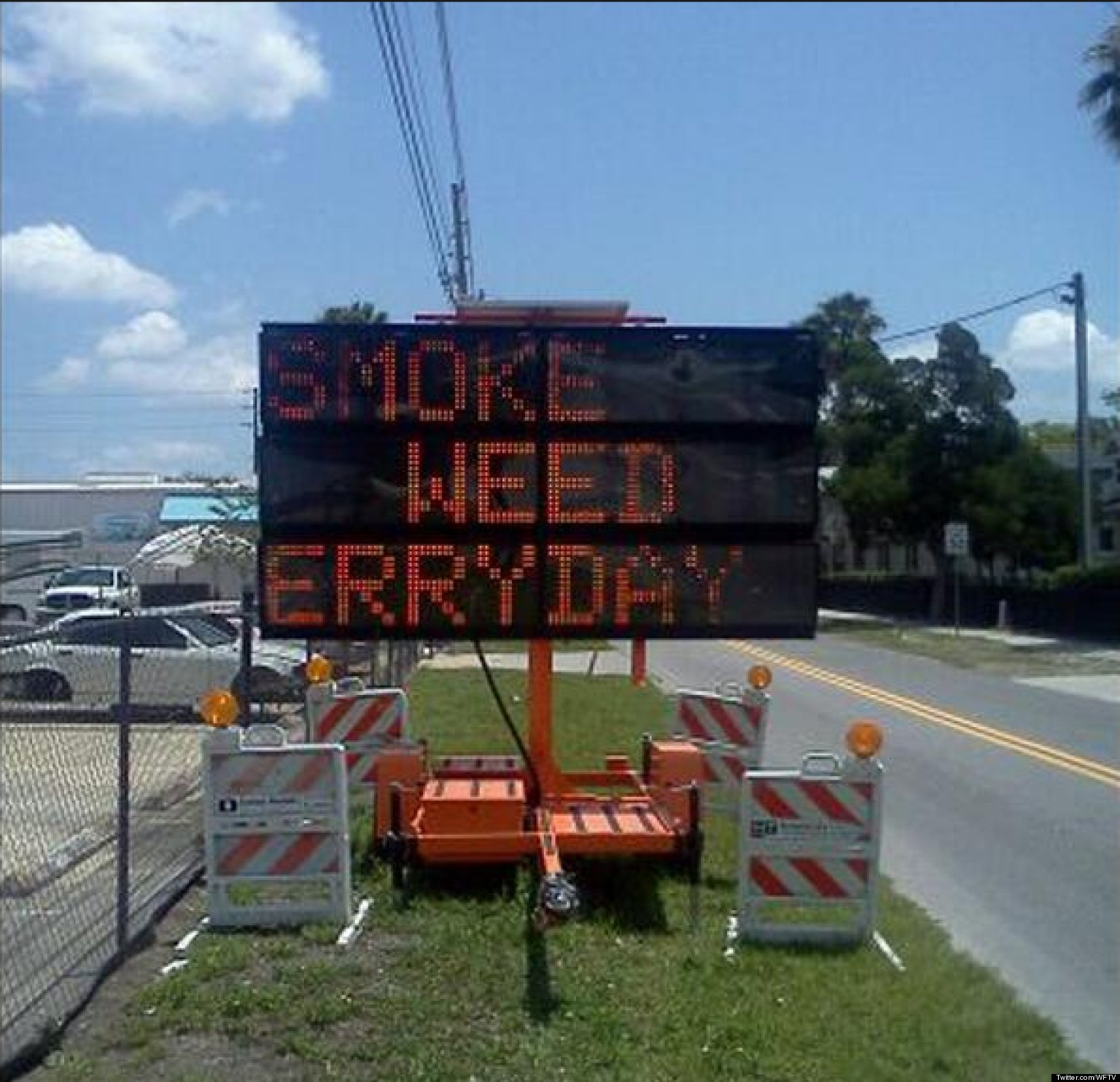 LOOK: Hacked Traffic Sign REALLY Wants You To Get High