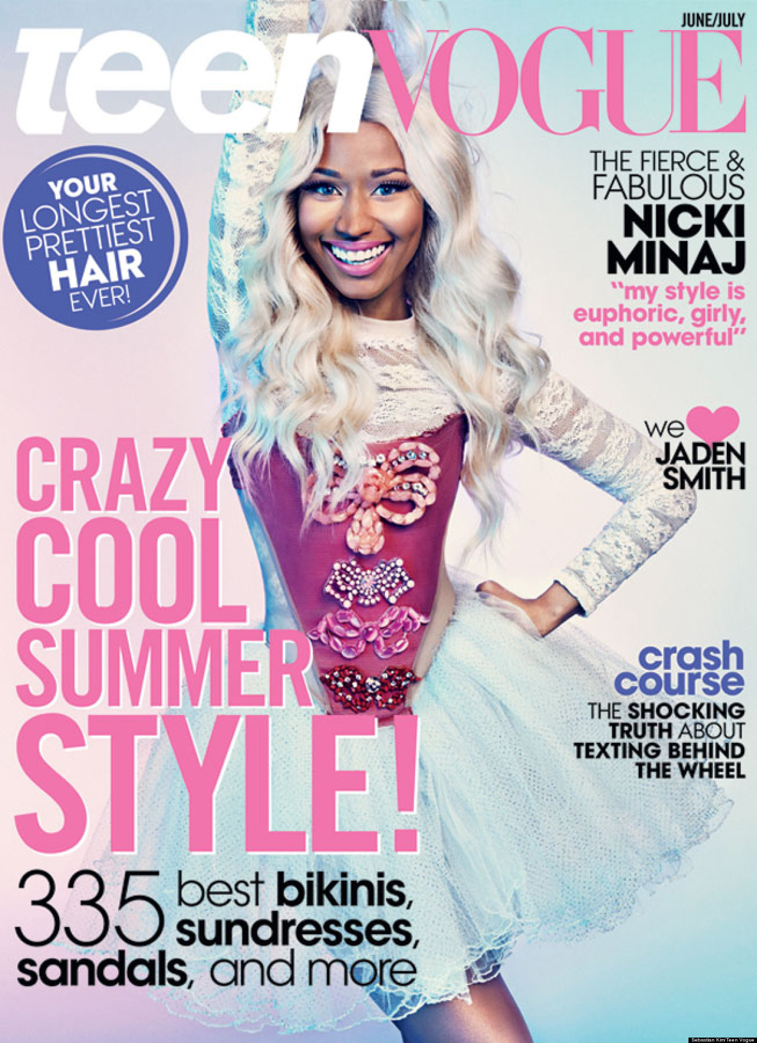 Teen Vogue Magazine Us March 2015 Cover: Nicki Minaj's Teen Vogue Cover Reminds Us Of Her Costume