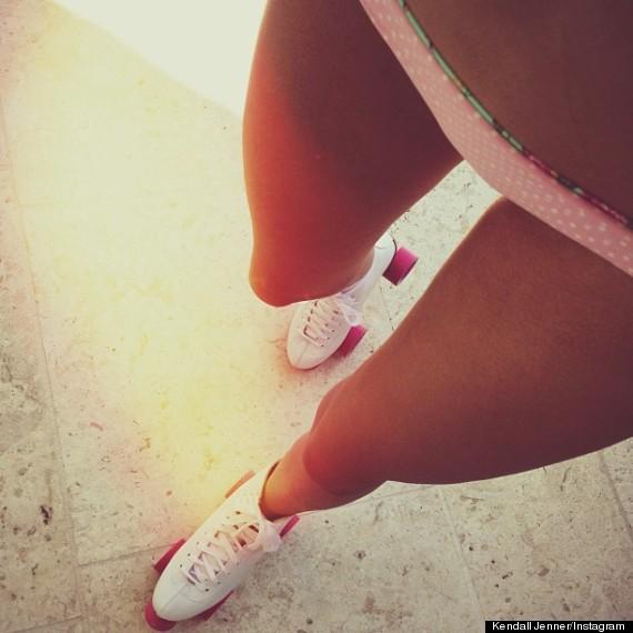 Kendall Jenner Shares Bikini Shot Again, This Time On Roller Skates ...