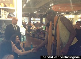 Kendall & Kylie Get Surprise Visit From Dennis Rodman
