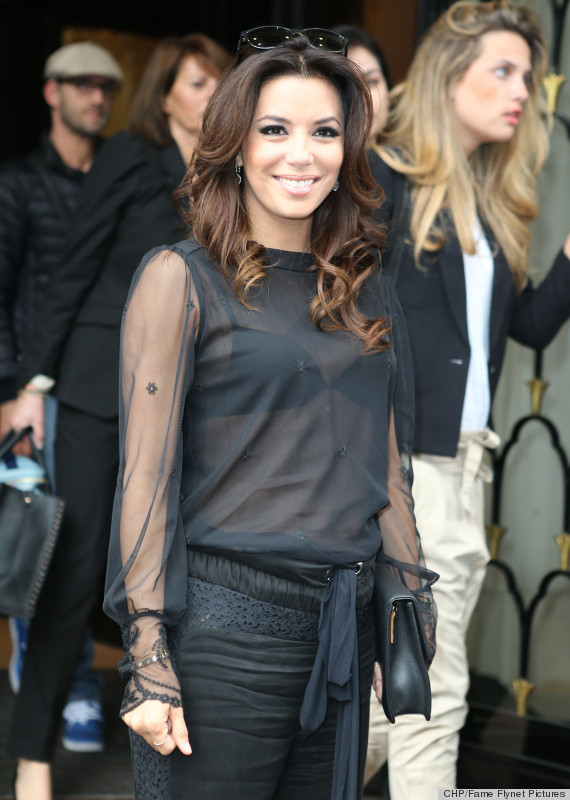 Eva Longoria's Sheer Top And Parachute Pants: Success Or ...