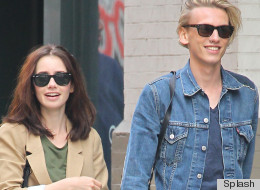 PHOTO: OK Seriously, Are Jamie Campbell Bower's Jeans Tighter Than Lily Collins'?