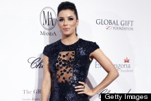 Stunning: Eva Longoria Steals The Show In A Sheer Sequin Gown At Paris Gift Gala