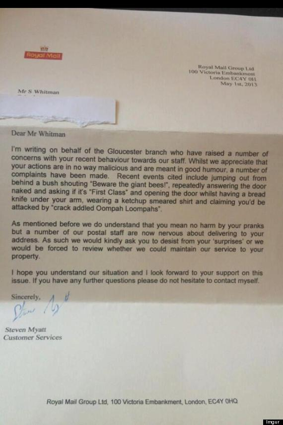 royal mail letter