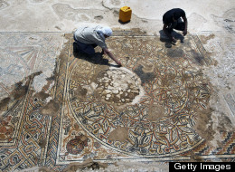 LOOK: Extraordinary Byzantine Mosaic Unearthed In Israel
