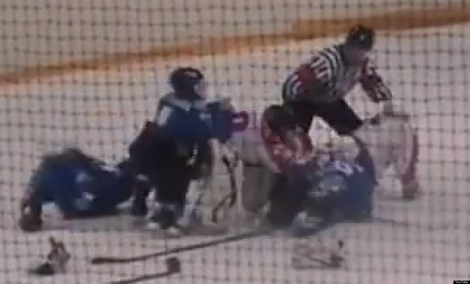 midget hockey fight