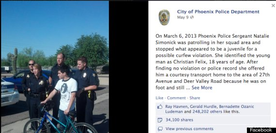 Arizona Police Sgt Natalie Simonick Gives Underprivileged Teen A