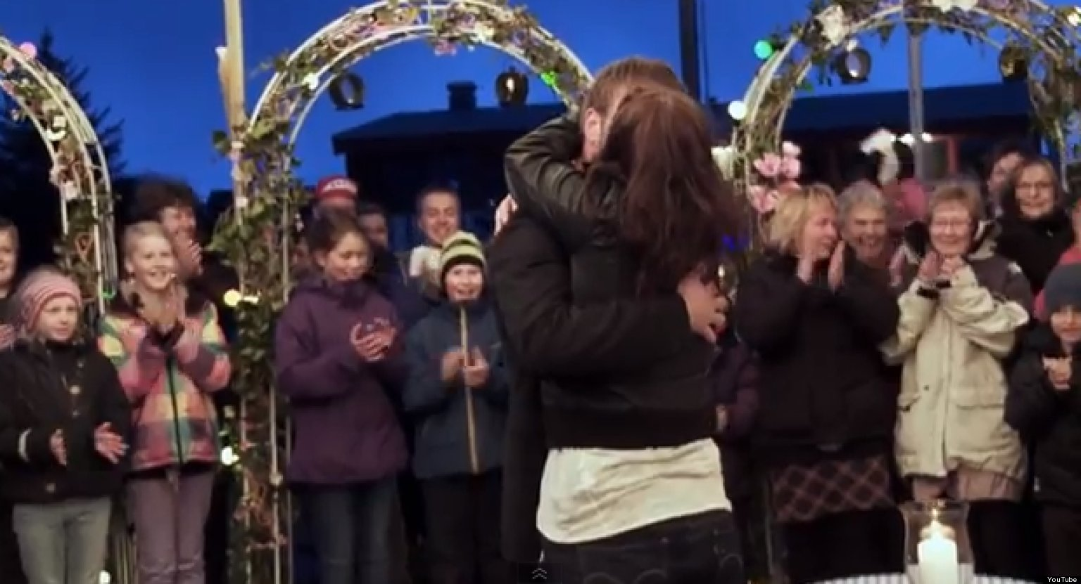 WATCH: Man Pulls Off Hollywood-Sized Proposal In Tiny Norwegian Town