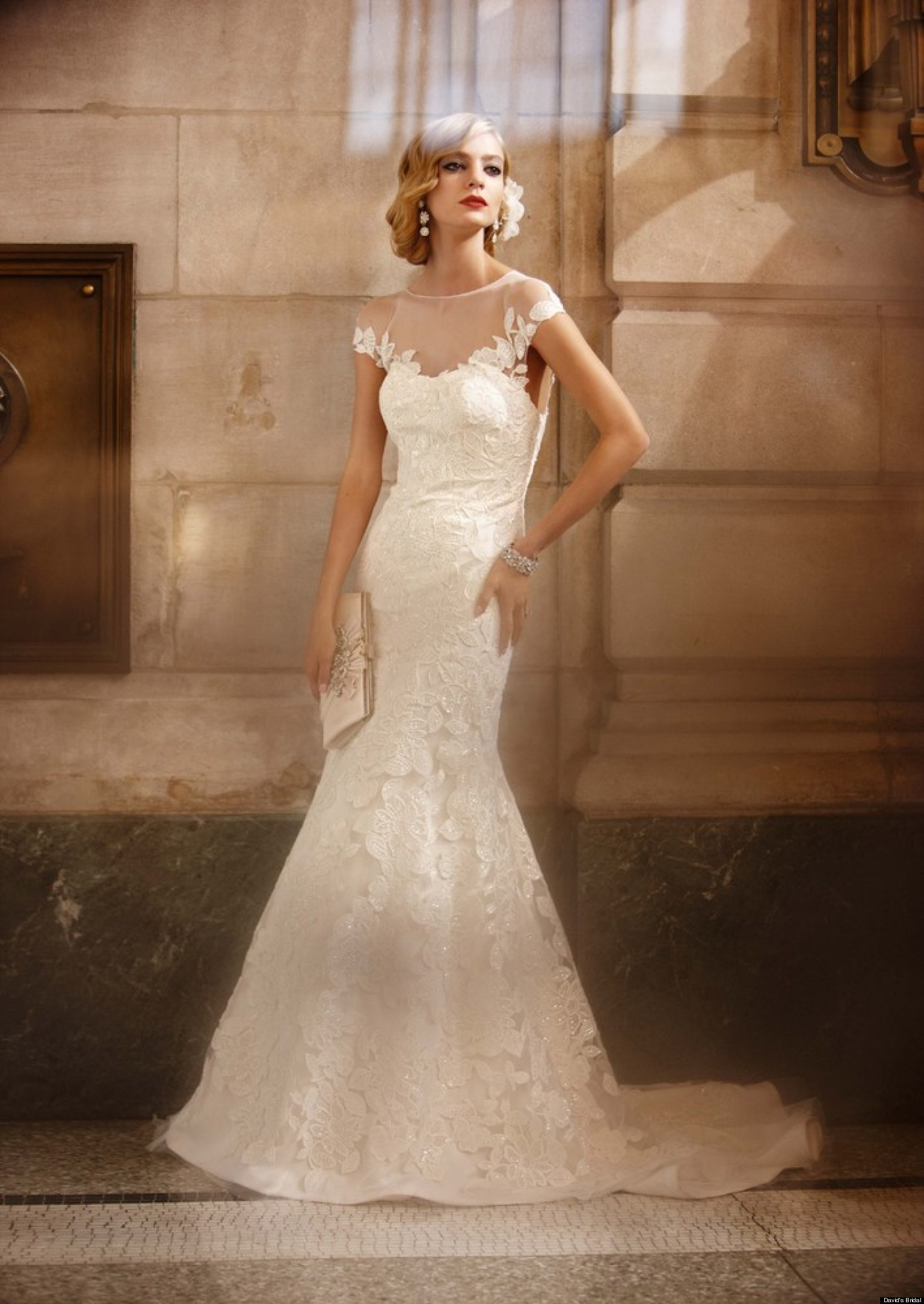 David 39 s bridal wedding dresses huffpost weddings editors for Wedding dress david bridal