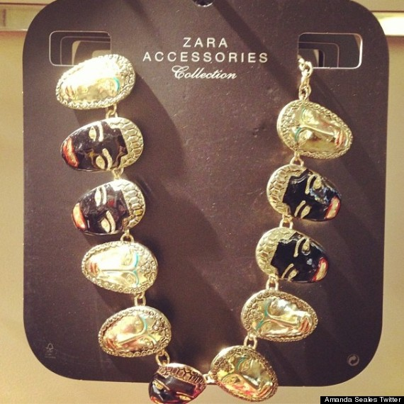 zara black figurine necklace