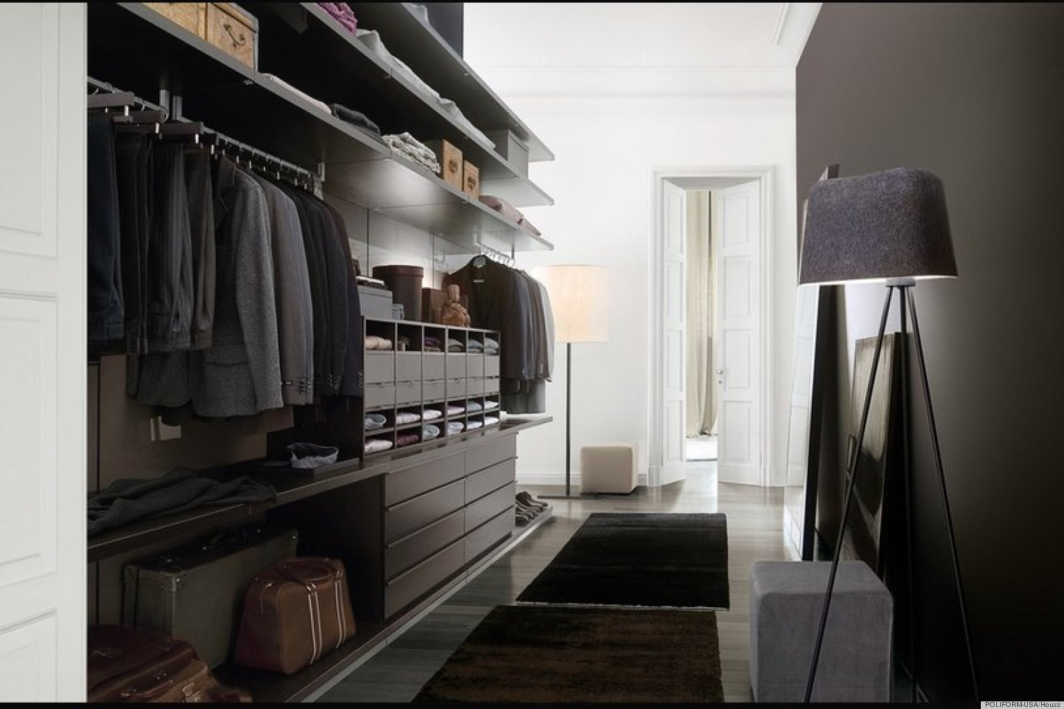 Интерьер гардеробной