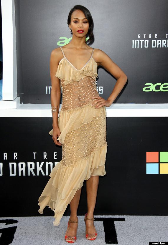 zoe saldana sheer dress