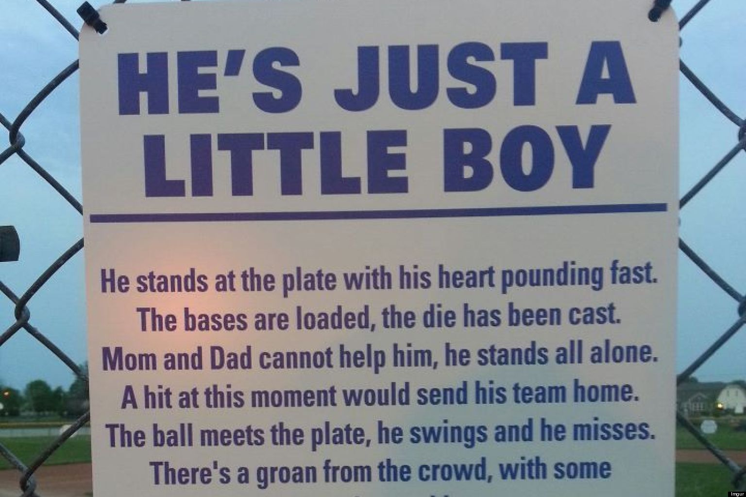 LOOK: Viral Poem Spreads Across Little League Baseball Fields