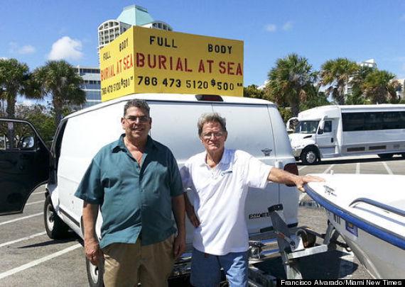 miami burials at sea van