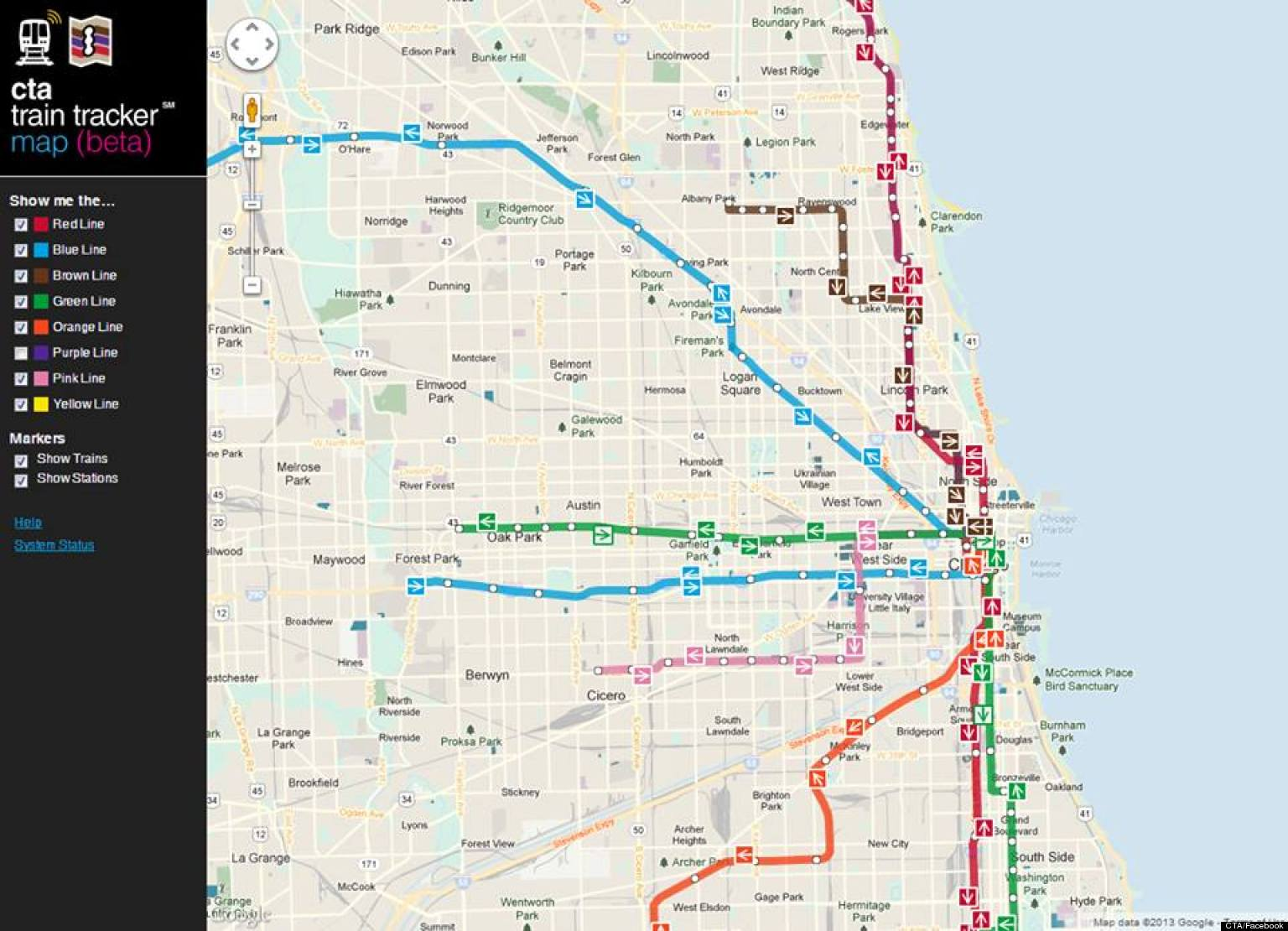 chicago el map bnhspinecom