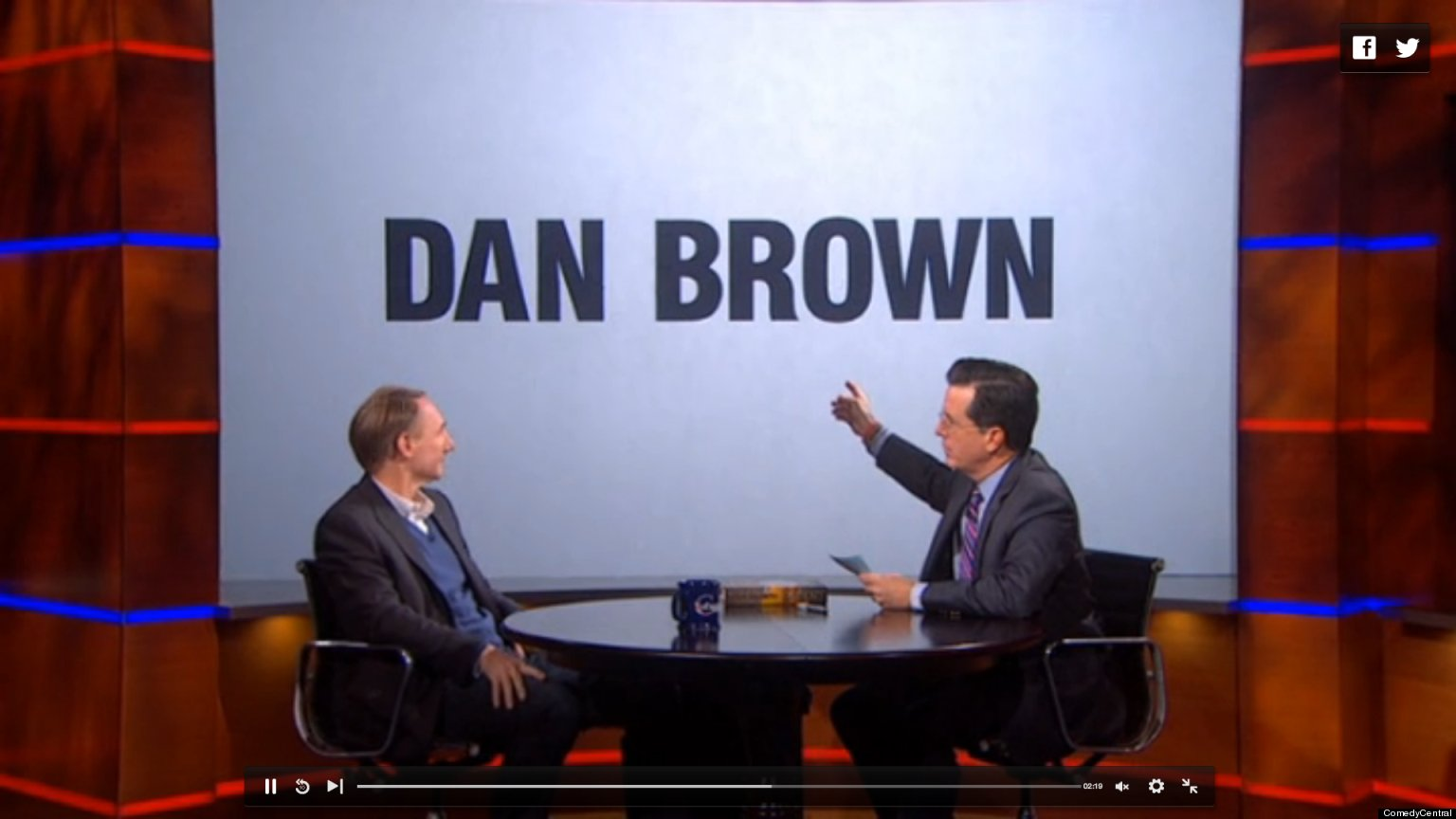 dan brown on colbert  awkward interview with bestselling