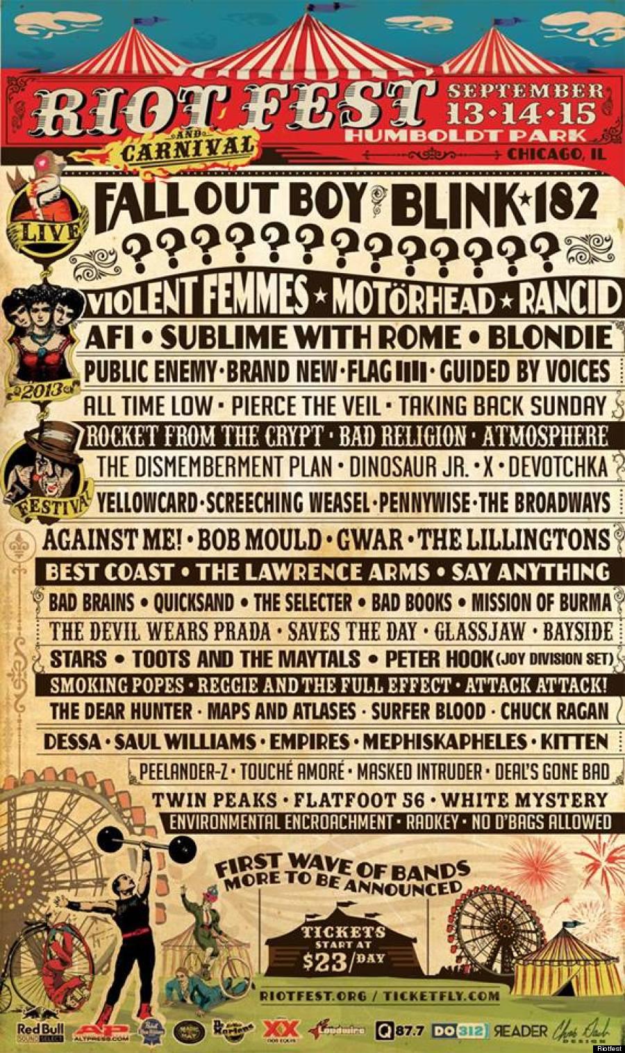 riotfest 2013 lineup