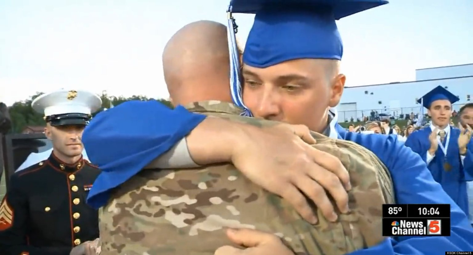 Dad's Unbelievably Sweet Graduation Surprise For His Son (VIDEO)