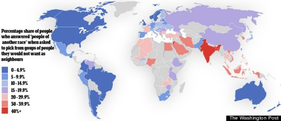 racial tolerance map
