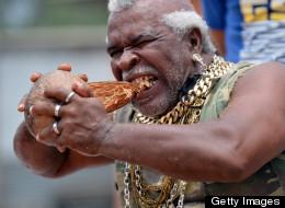 Mr. T Lookalike Peels Coconuts Super Fast - USING HIS TEETH