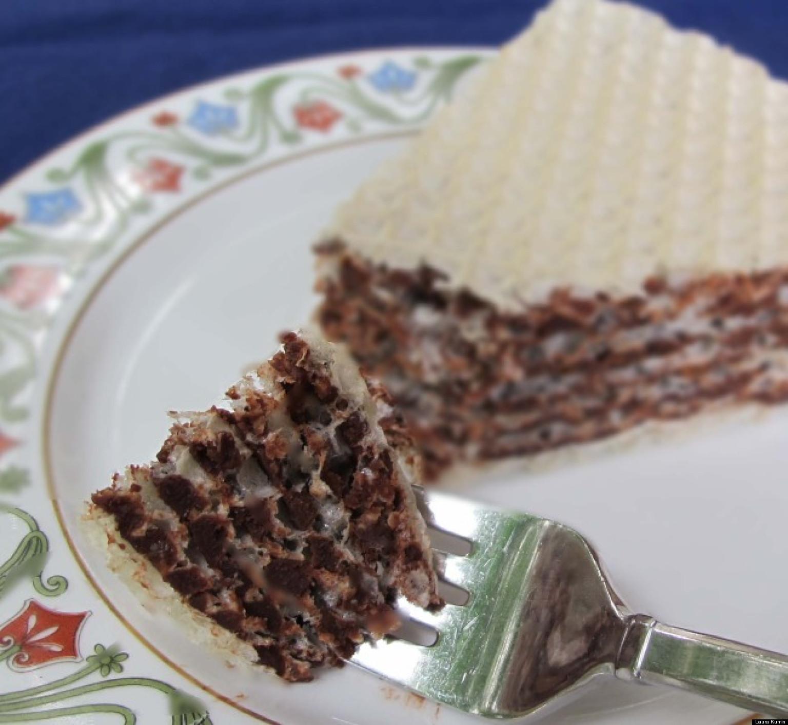 Russian Chocolate Wafer Cake