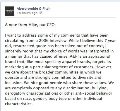 facebook abercrombie