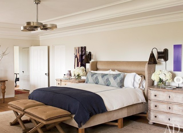 10 celebrity bedrooms from architectural digest that we for Celebrity bedroom ideas