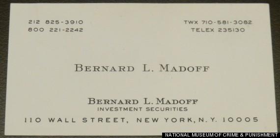 madoff business card