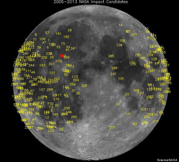 Moon Explosion Sparked By Meteorite Crash On Lunar Surface ...
