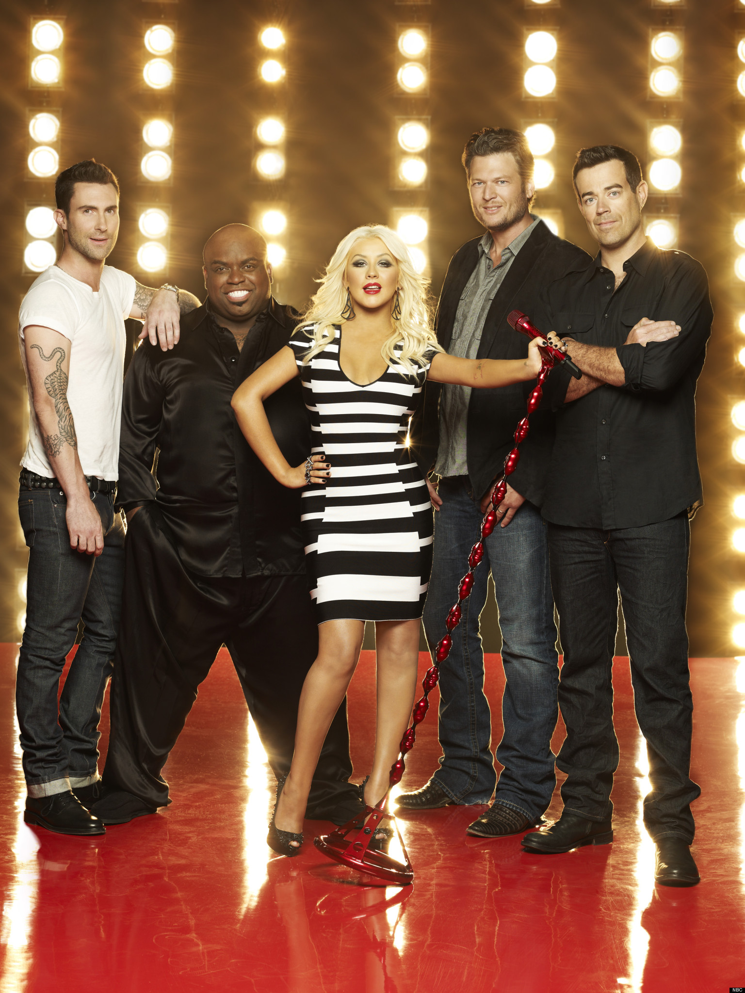 The Voice Within The Cards: 'The Voice' Season 5 At TCA: Adam Levine, Christina