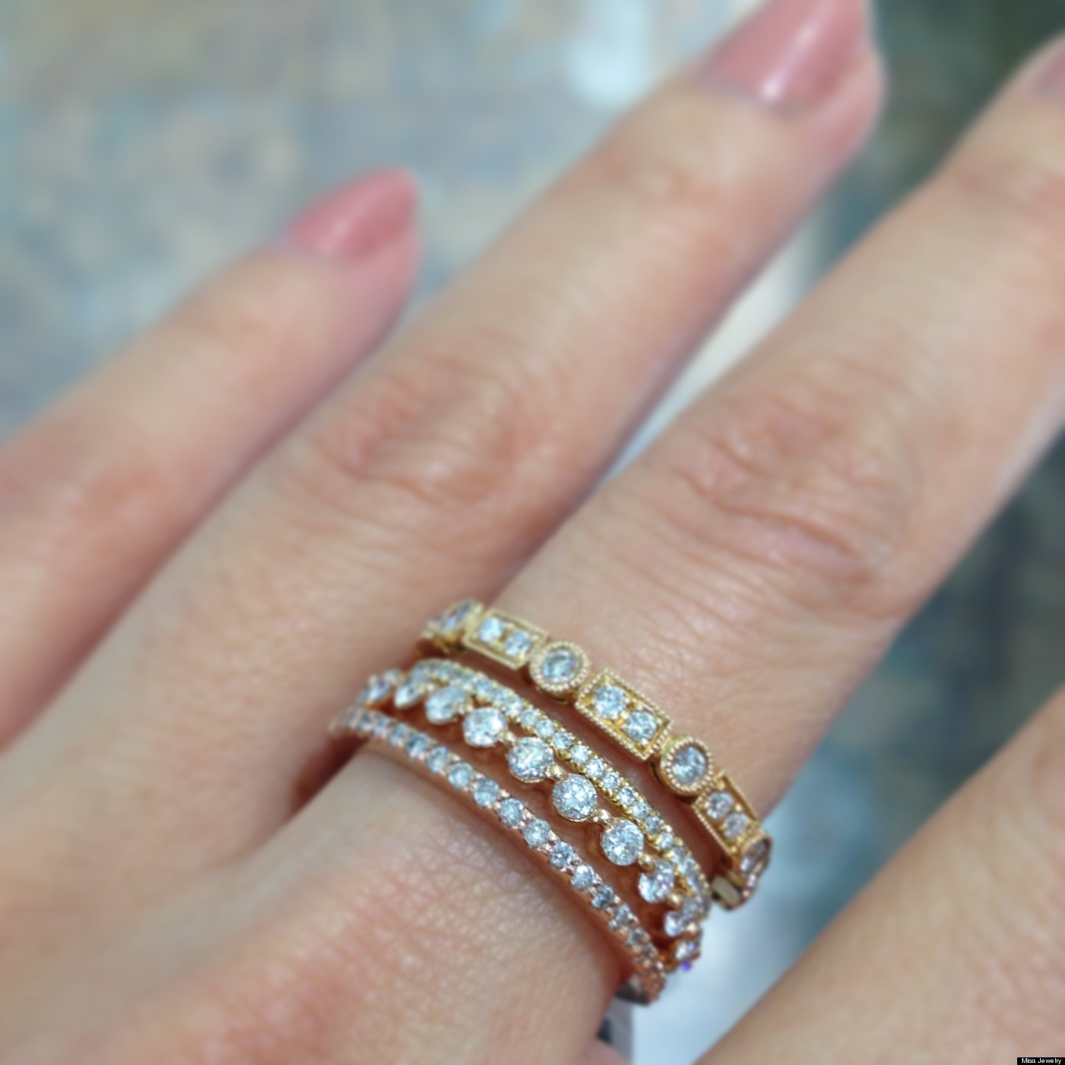 Stackable Wedding Bands Are e Our Favorite Jewelry Trends