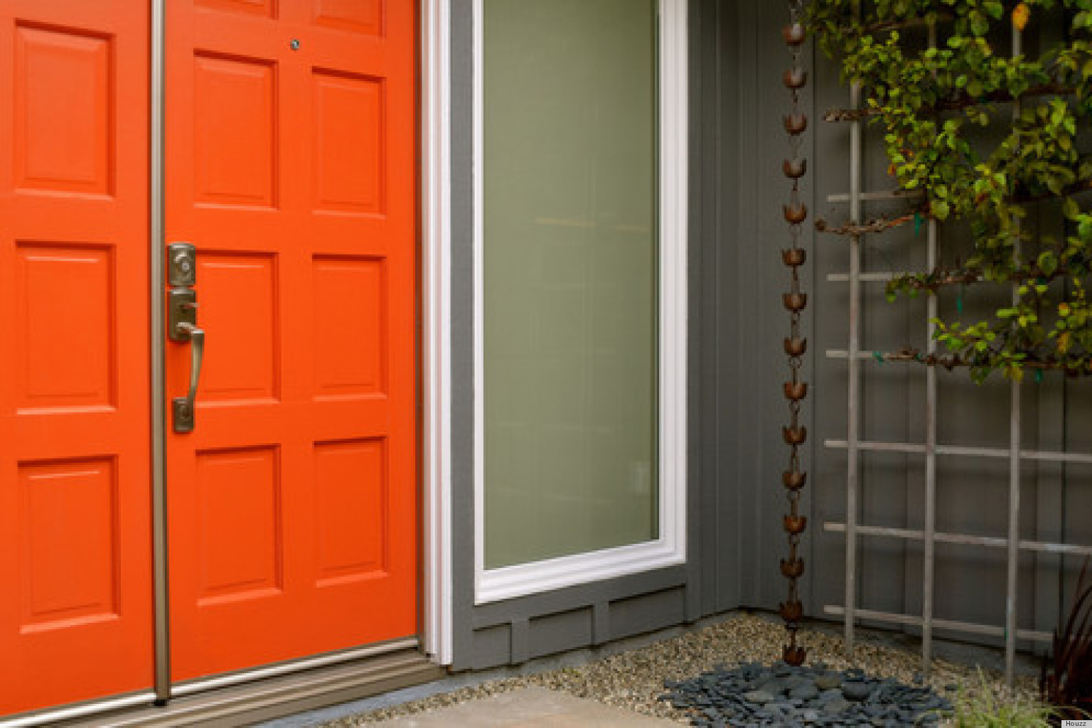 Door Color Beauteous With Orange Paint Colors for Front Door Photos