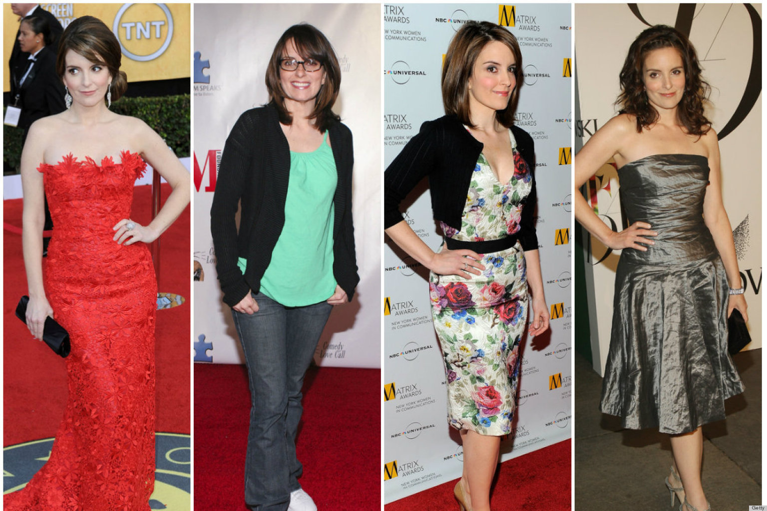 PHOTOS: Tina Fey's Transformation From Geek To Glamour Girl