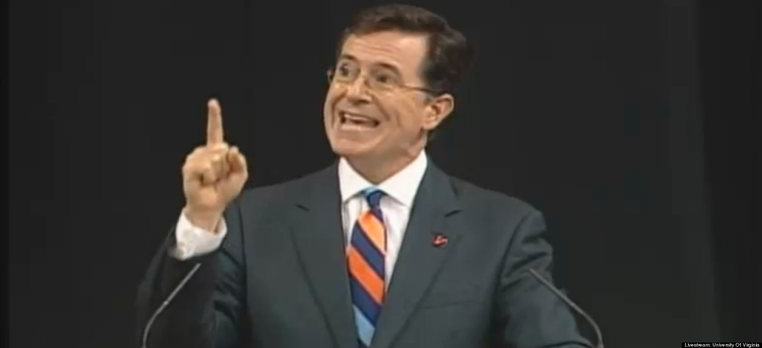 Colbert At U.Va.: You Owe The Previous Generation Nothing