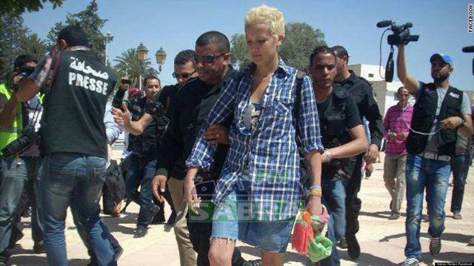 Amina Tyler: Topless Tunisian Protester 'Arrested For ...