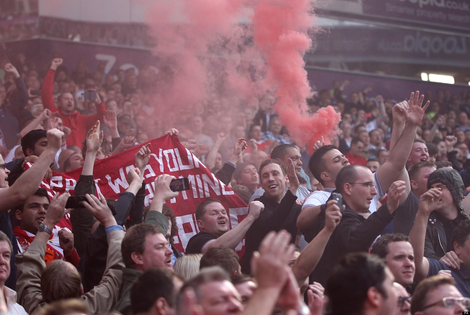 United Fans Flares Manchester United Fans