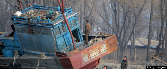 NORTH KOREA CHINA FISHING BOAT