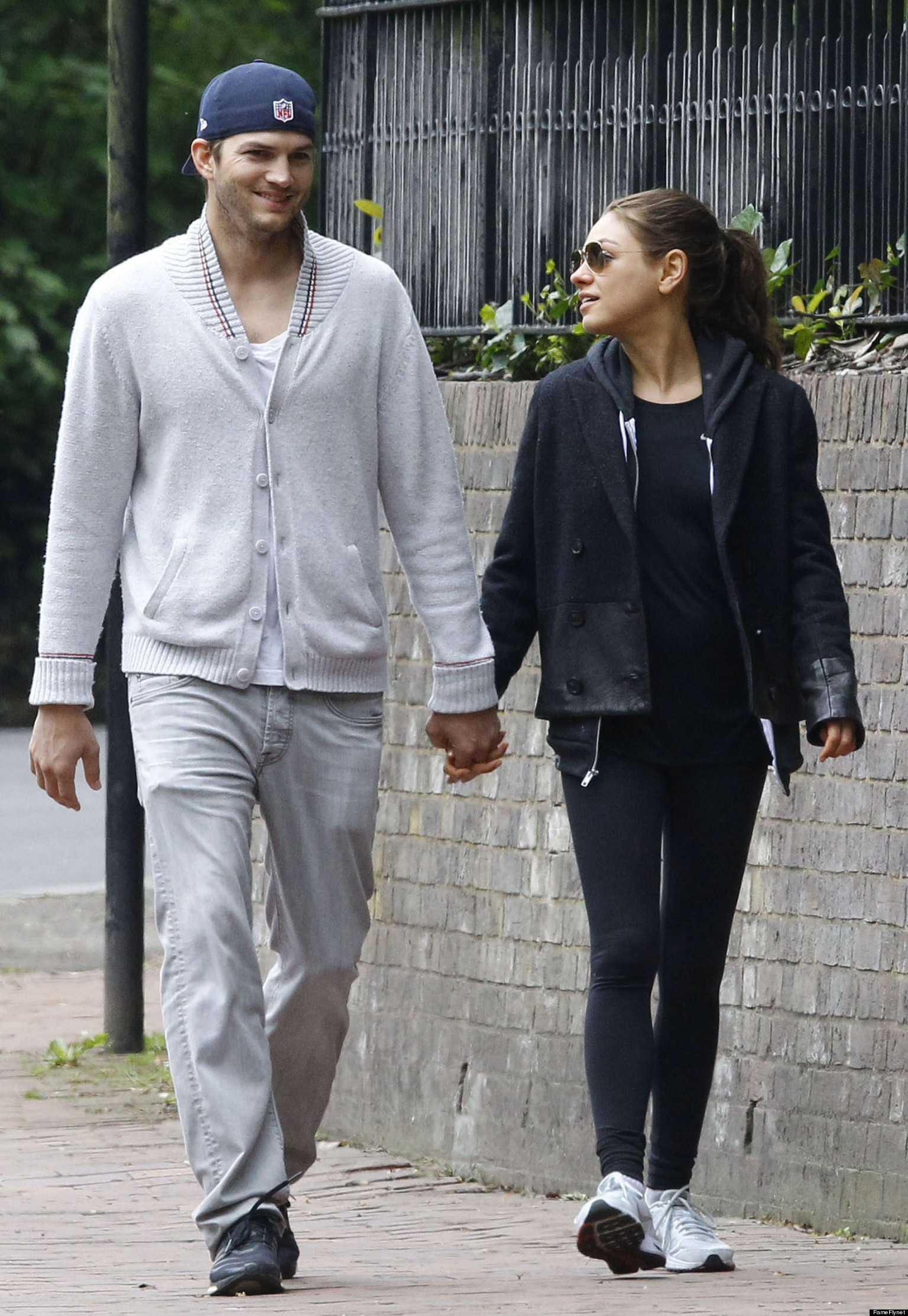 Mila Kunis And Ashton Kutcher Put Their Romance On Display