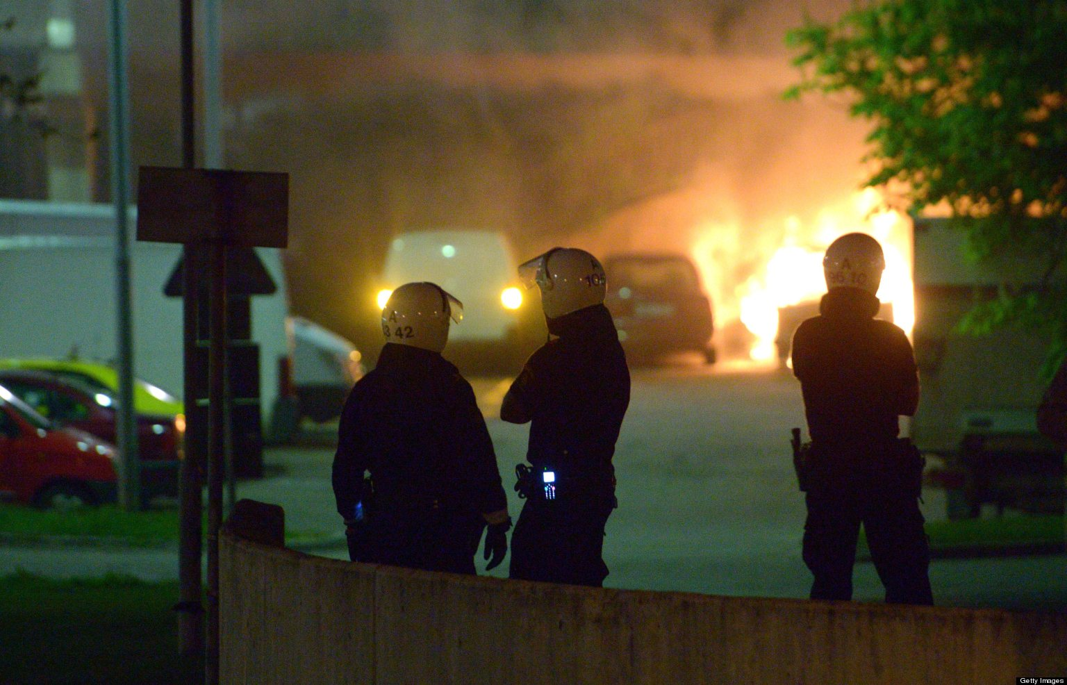 Youths In Stockholm Suburb Riot After Police Shooting