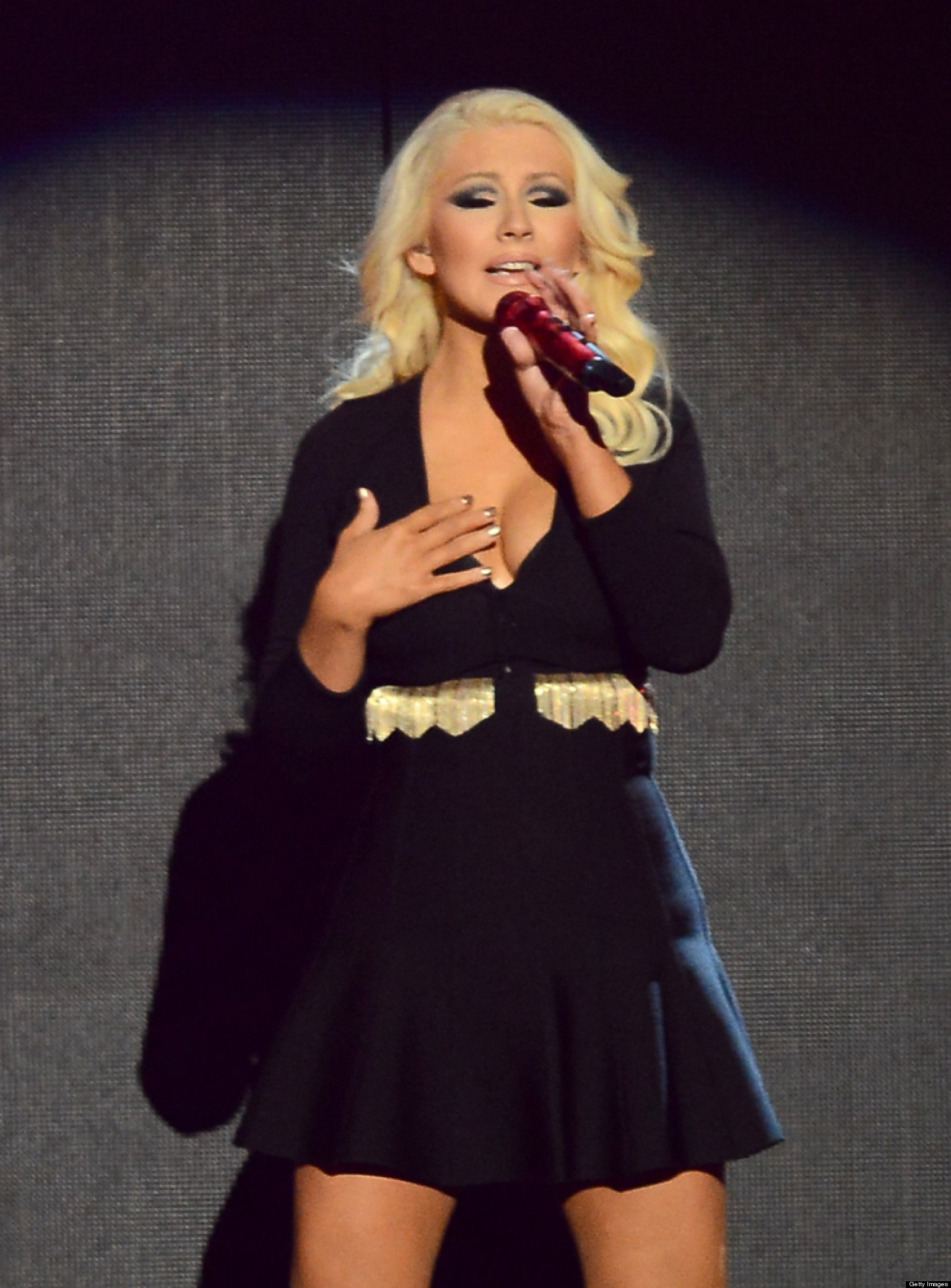 christina aguilera shows off weight loss at billboard