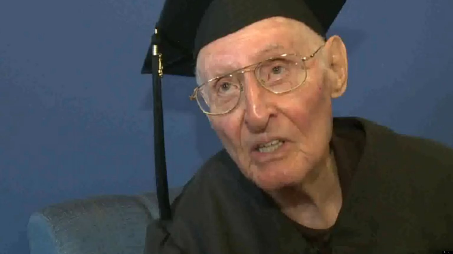 WATCH: 90-Year-Old Sets College Record